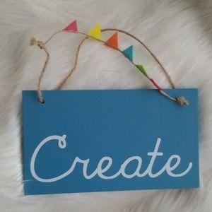Create Blue Wall Art Sign